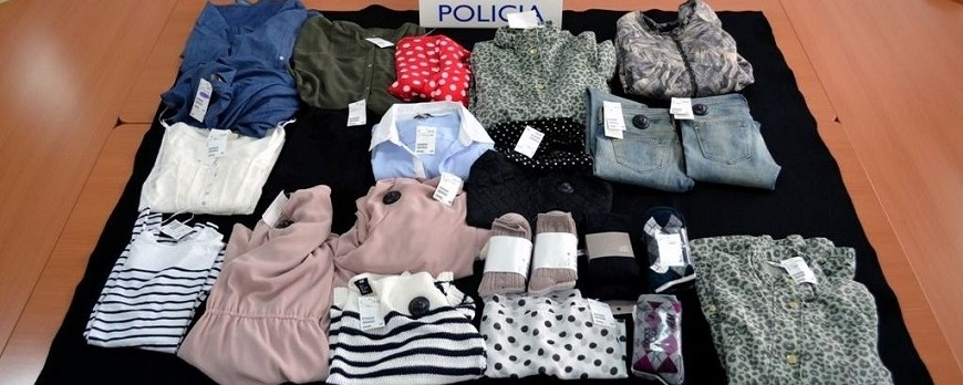 Tres detenidos por hurto de ropa en Huelva